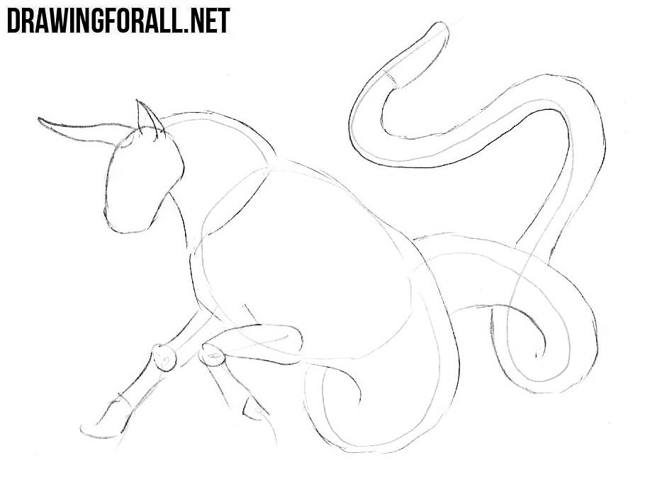 How to draw a Ophiotaurus step by step