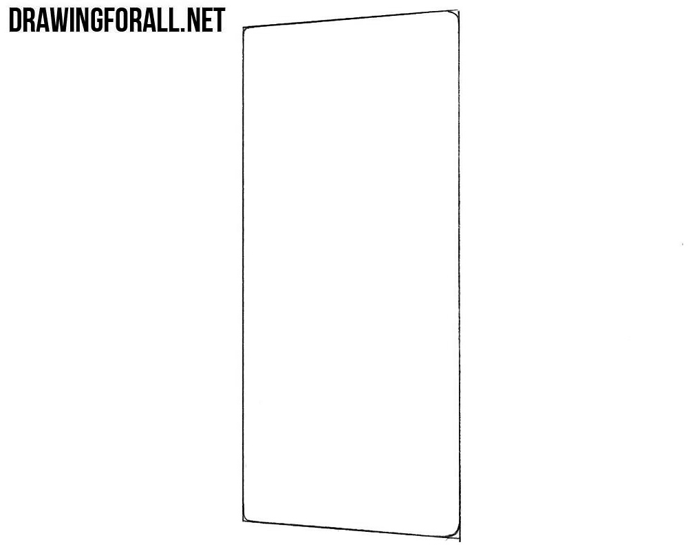 How to draw a Sony Xperia ZX Premium
