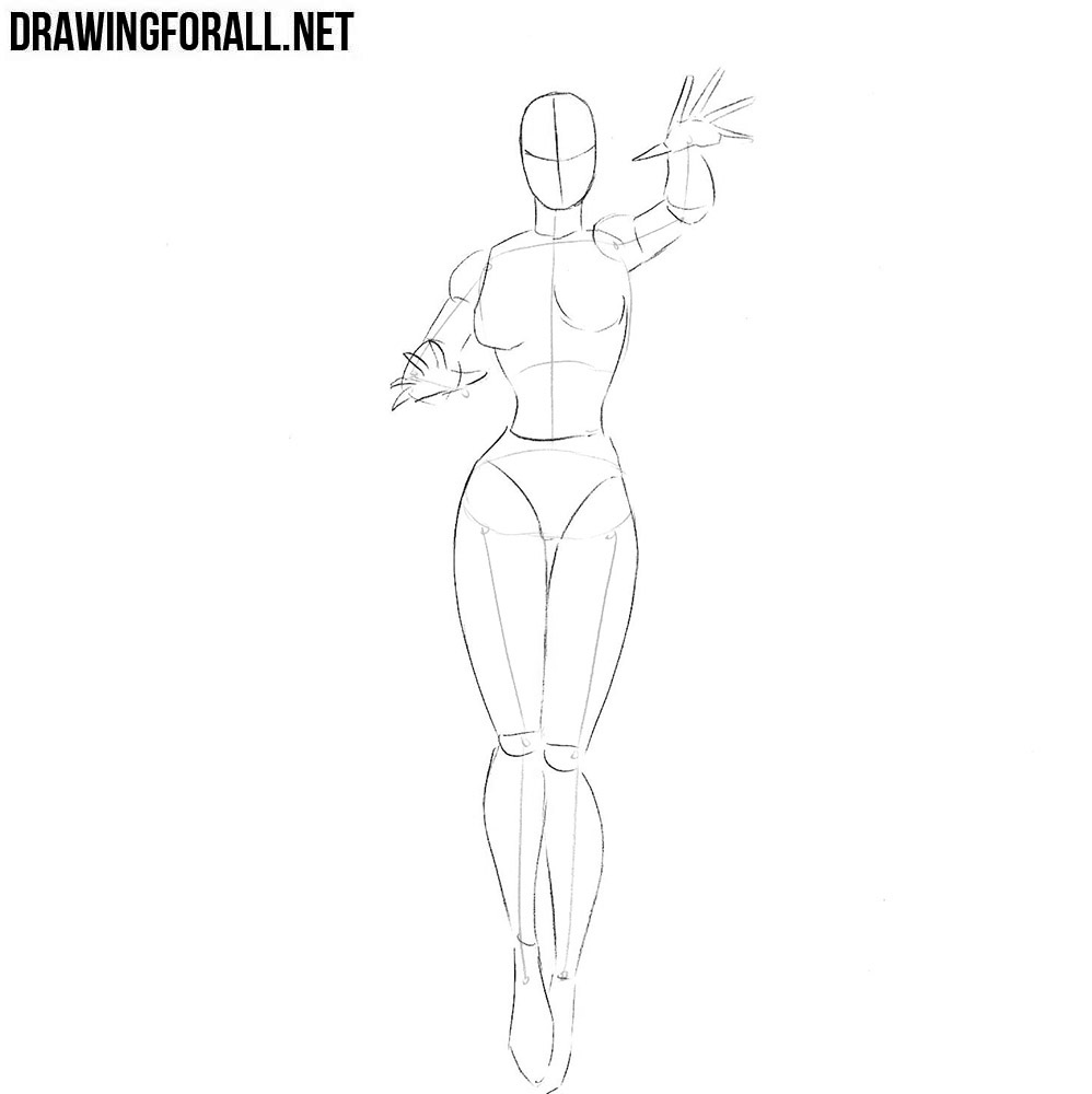 How to draw a beautiful girl superhero