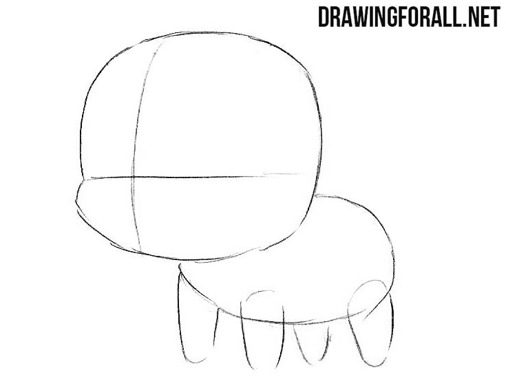 How to draw a cute chibi chibi unicorn
