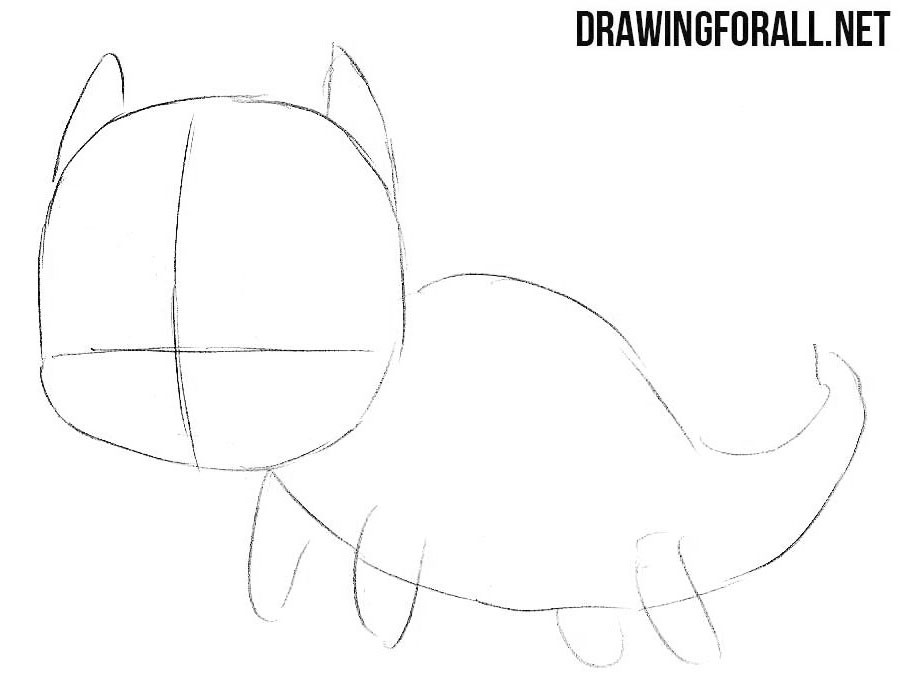 2 How to draw a cute chibi dragon