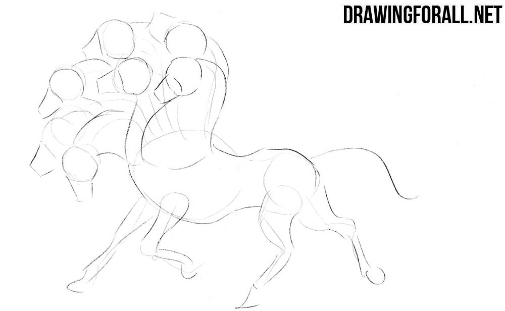 How to draw a horse from myths