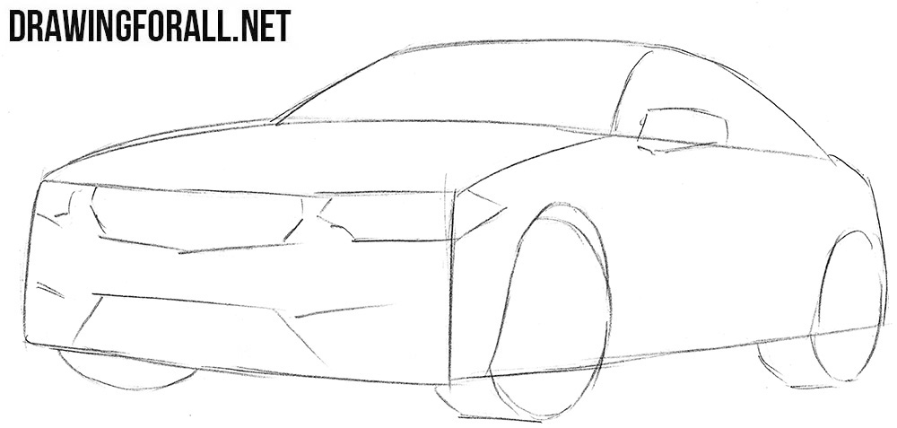 How to sketch a BMW M4