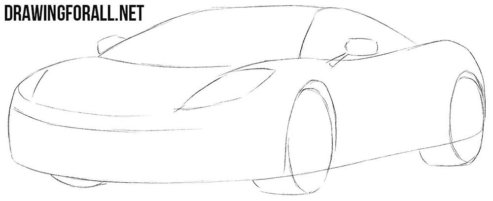 How to sketch a McLaren mp4