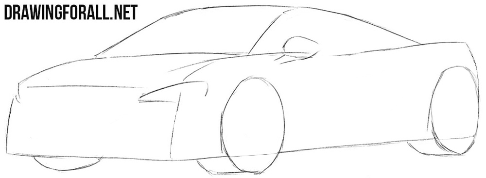 How to sketch a Mclaren 650s