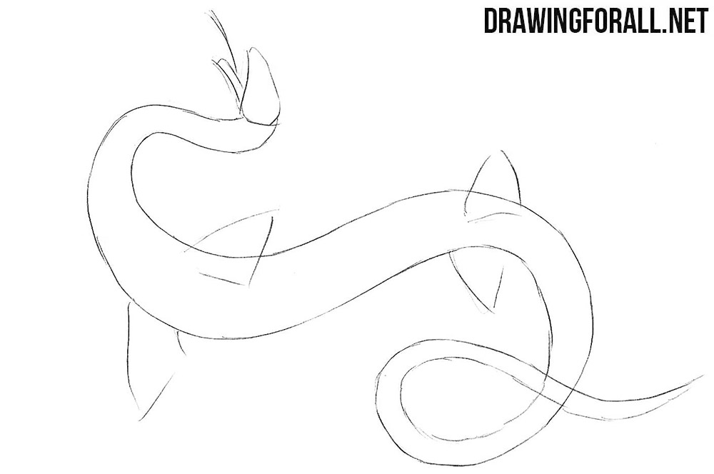 How to sketch a Sea Serpent step by step