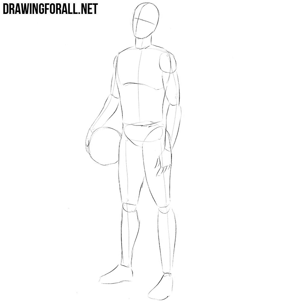 How to sketch a basketball player step by step