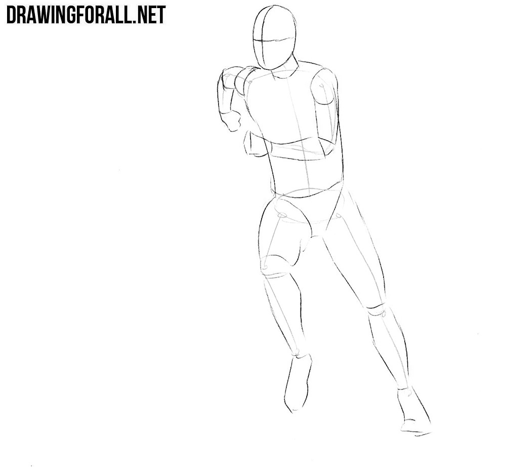 How to sketch a football player