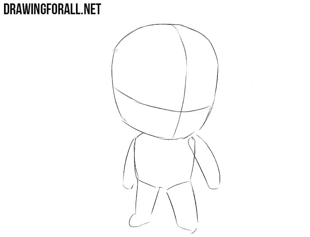 How to sketch chibi Batman