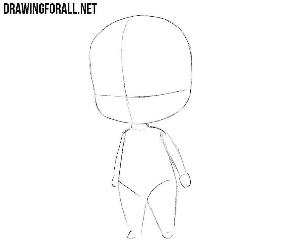 How to sketch chibi Jason Voorhees