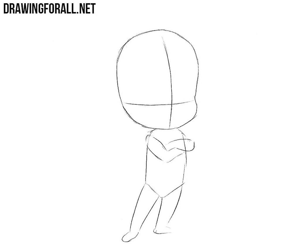 How to sketch chibi Natsu