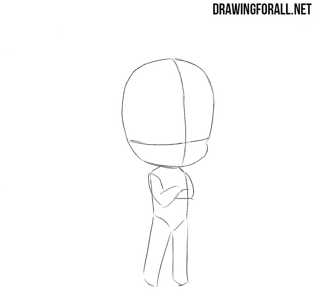 How to sketch chibi Vegeta