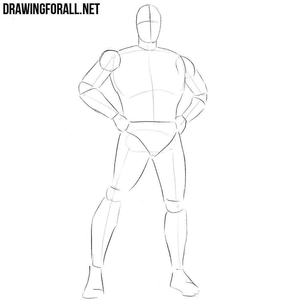 Learn how to draw a Classic Superhero