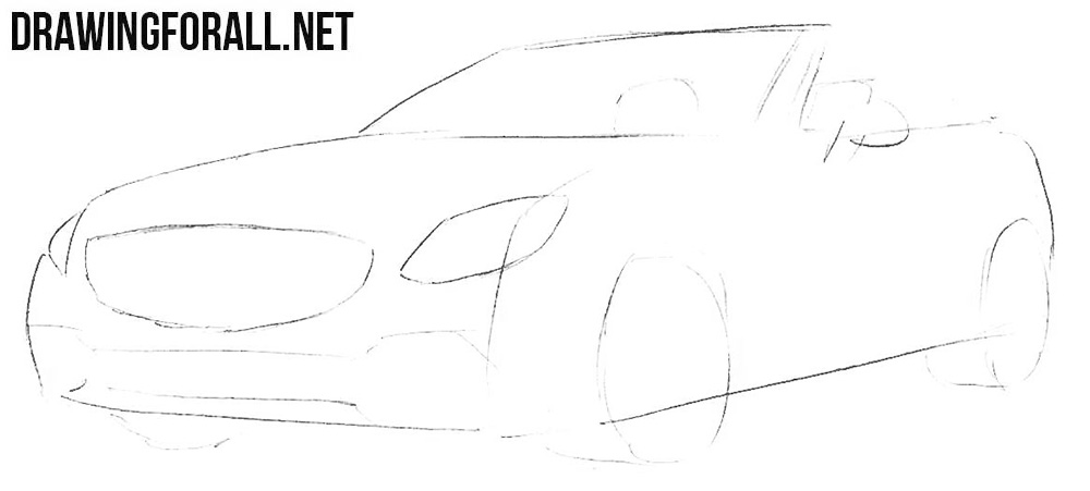 Mercedes-Benz SLC drawing tutorial