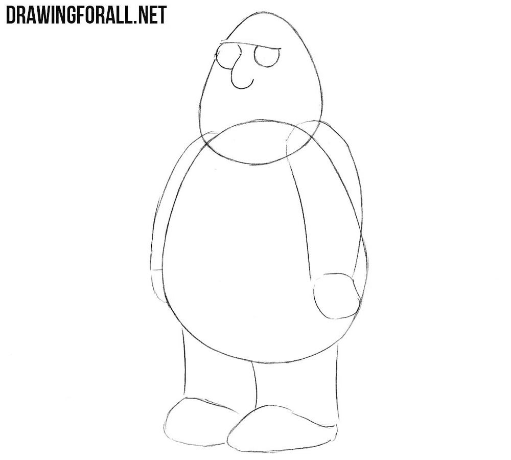 How to draw Chris Griffin from family guy