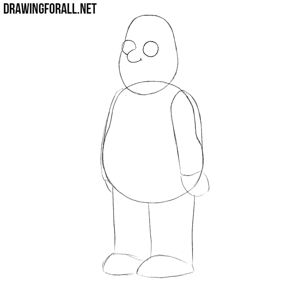 How to draw Cleveland Brown from family guy