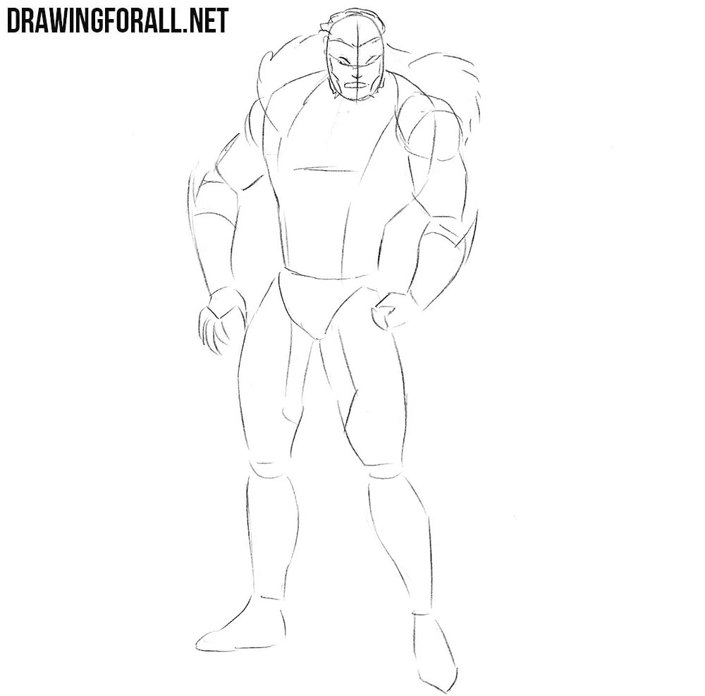 How to draw Sabretooth from x men