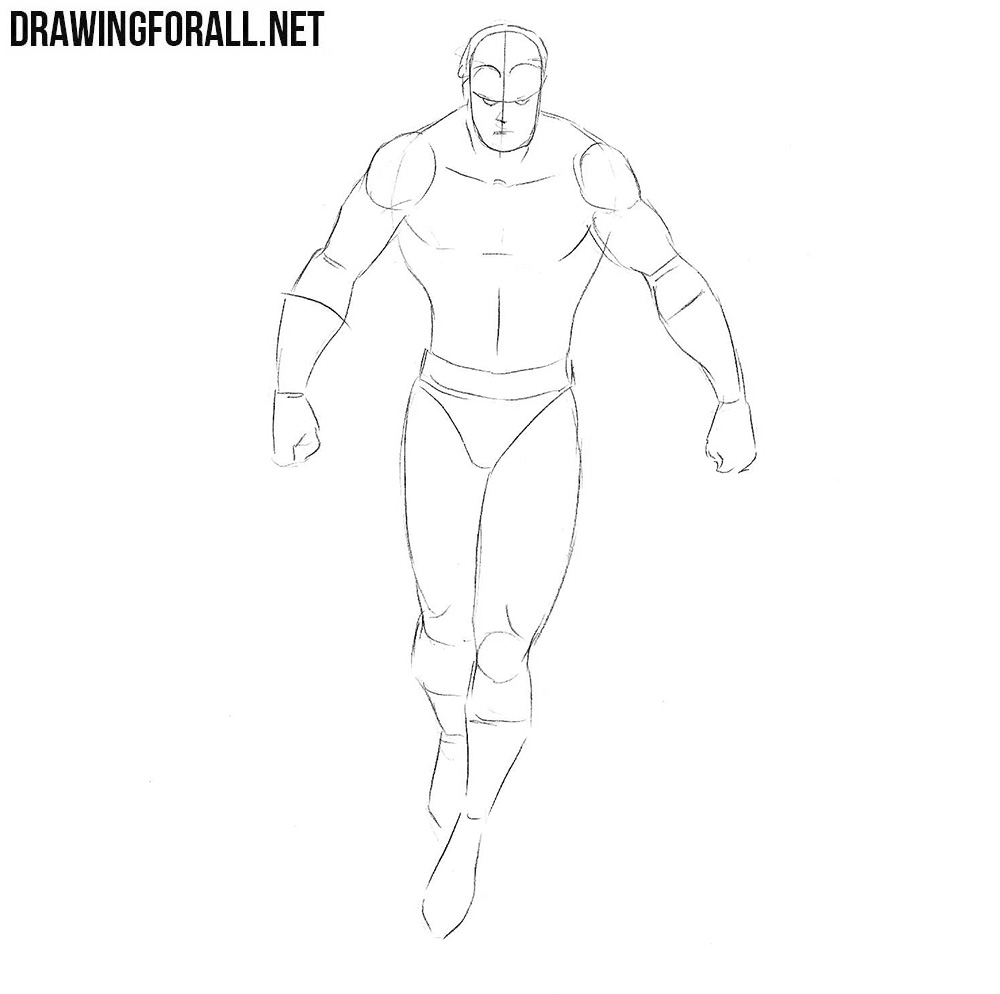 How to draw Vulcan from marvel step by step