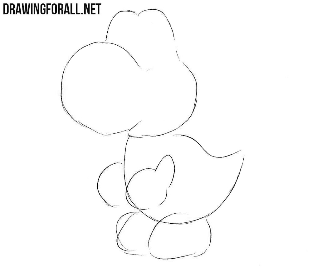 How to draw Yoshi from the game