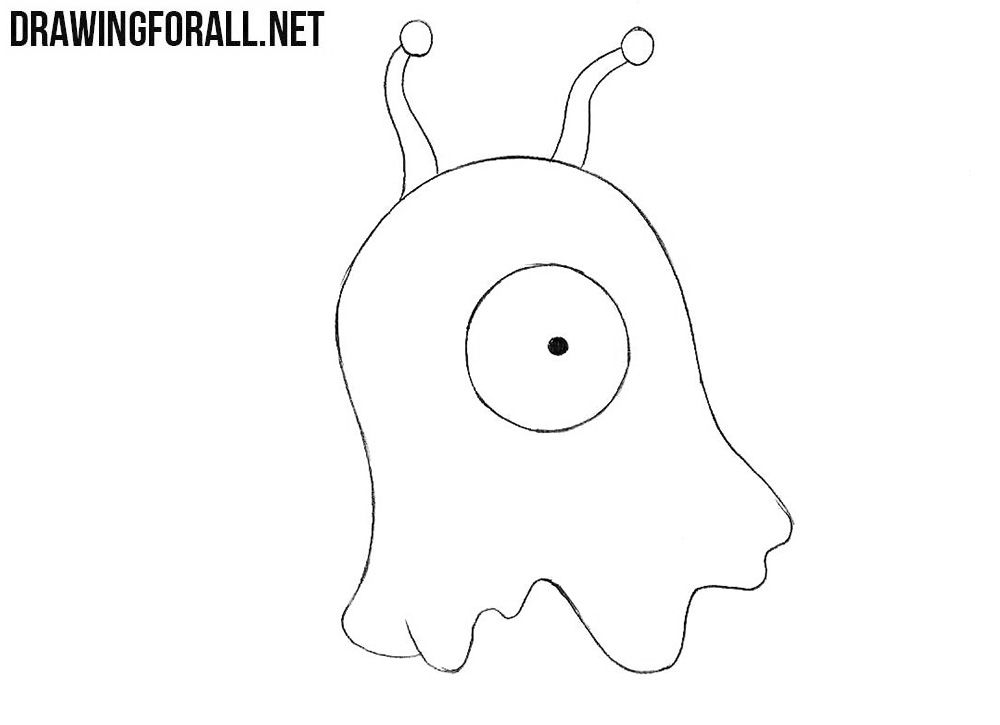 How to draw a Brain Slug from the Futurama