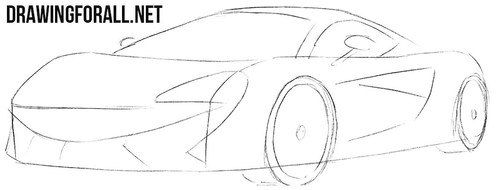 How to draw a McLaren 570s insurance
