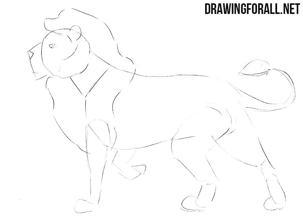 How to draw a Nemean lion step by step