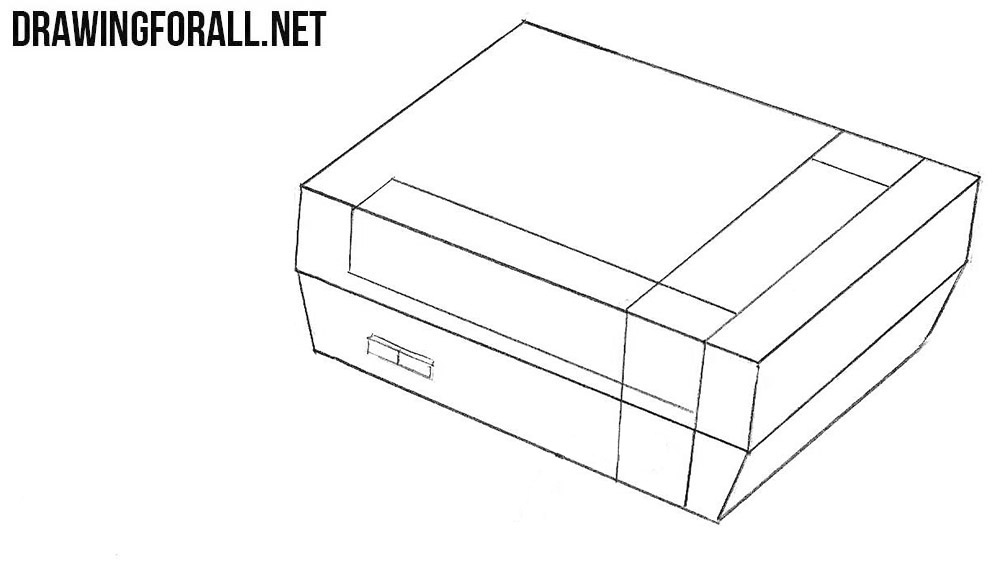 How to draw a Nintendo Entertainment System step by step