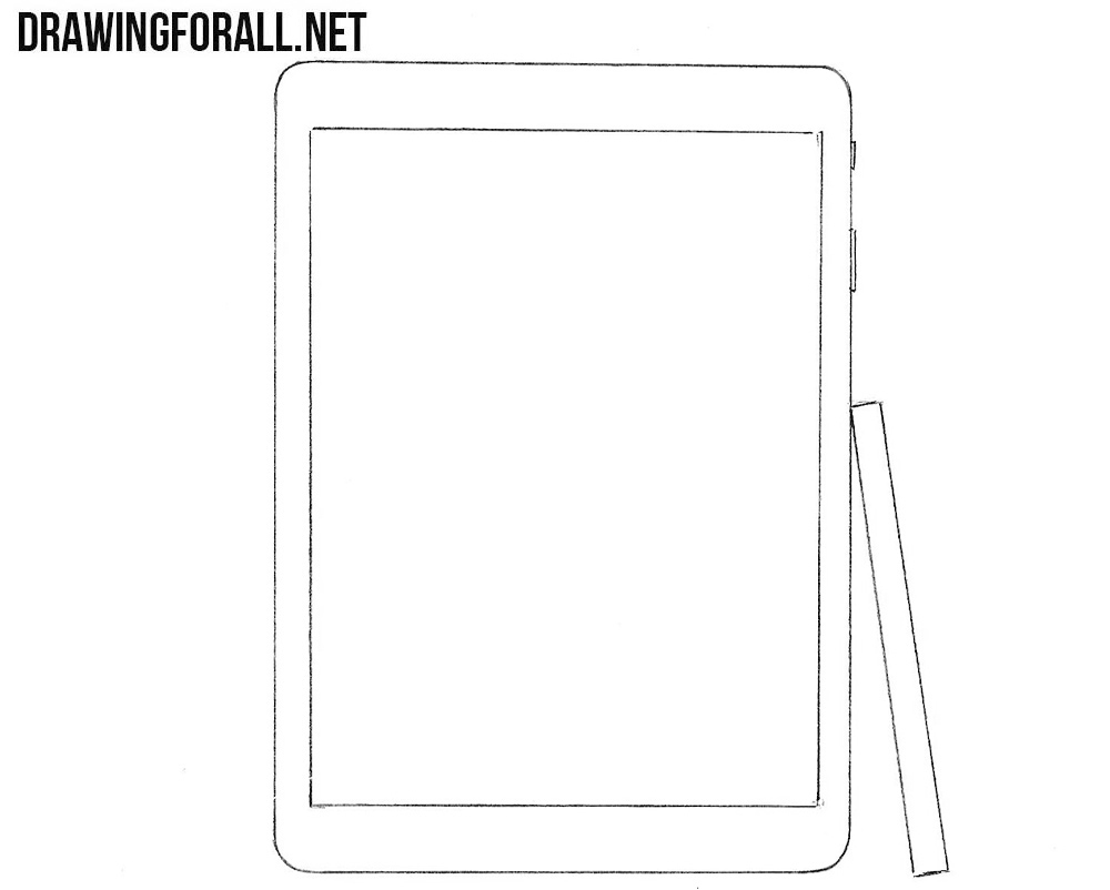 How to draw a Samsung Galaxy Tab