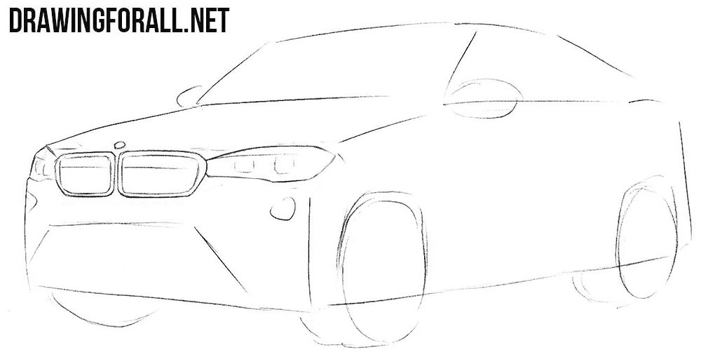 How to draw a bmw latest models