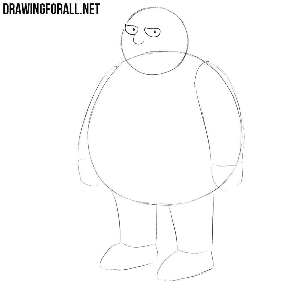 How to draw a cartoon guy