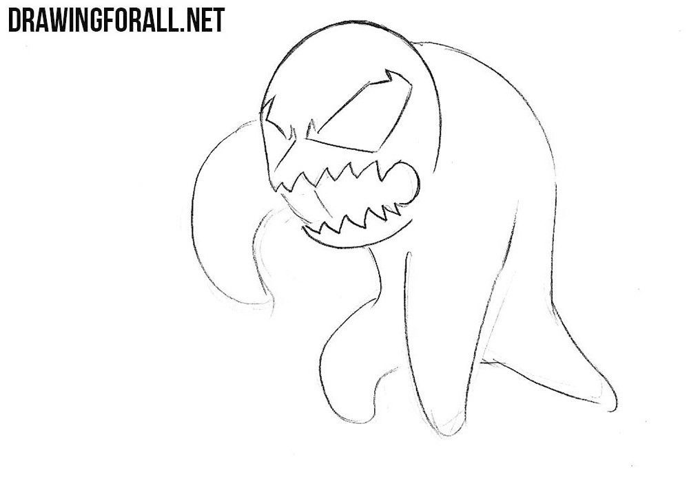 How to draw a chibi Venom step by step