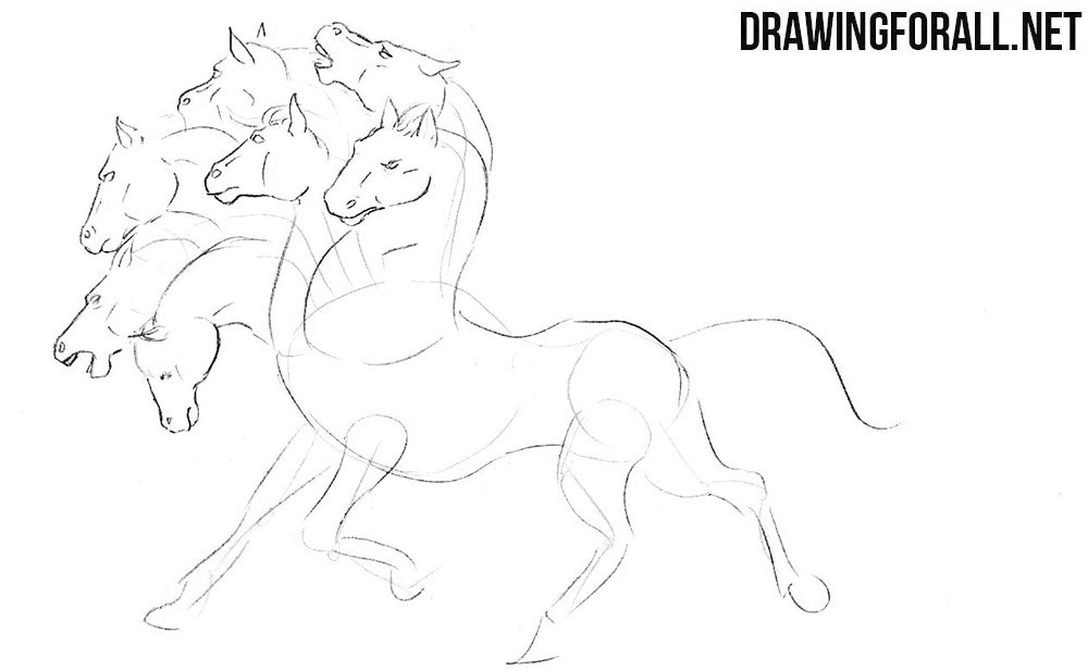 How to draw a horse from indian legends