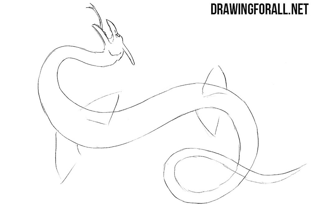 How to draw a sea monster