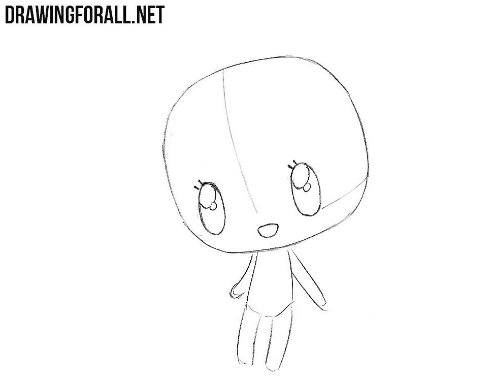How to draw chibi girl