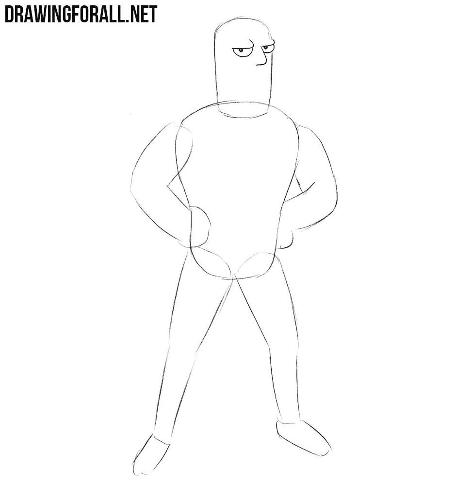 How to draw futurama