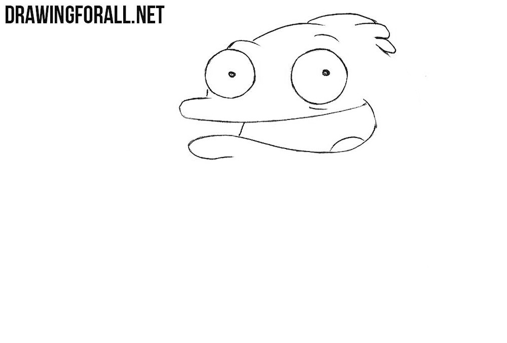 How to draw the fish from american dad