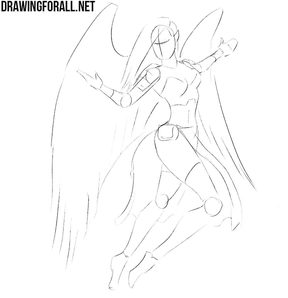 How to drawa girl knight