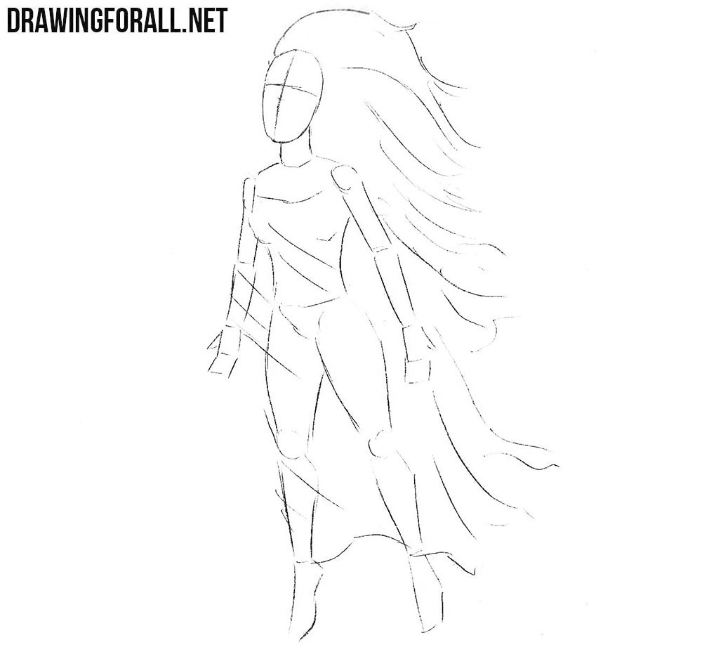 How to sketch a Banshee step by step