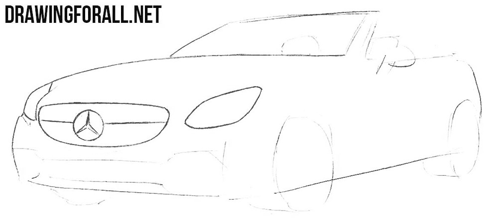 How to sketch a Mercedes-Benz SLC