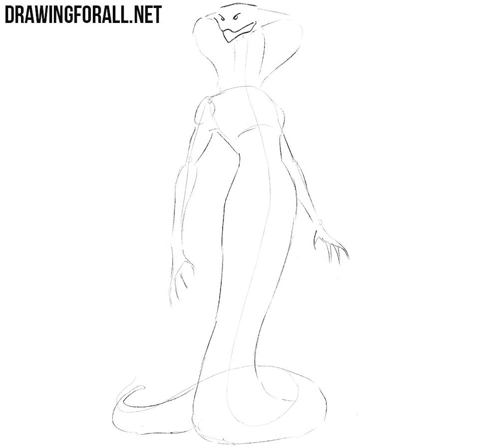 How to sketch a snake woman