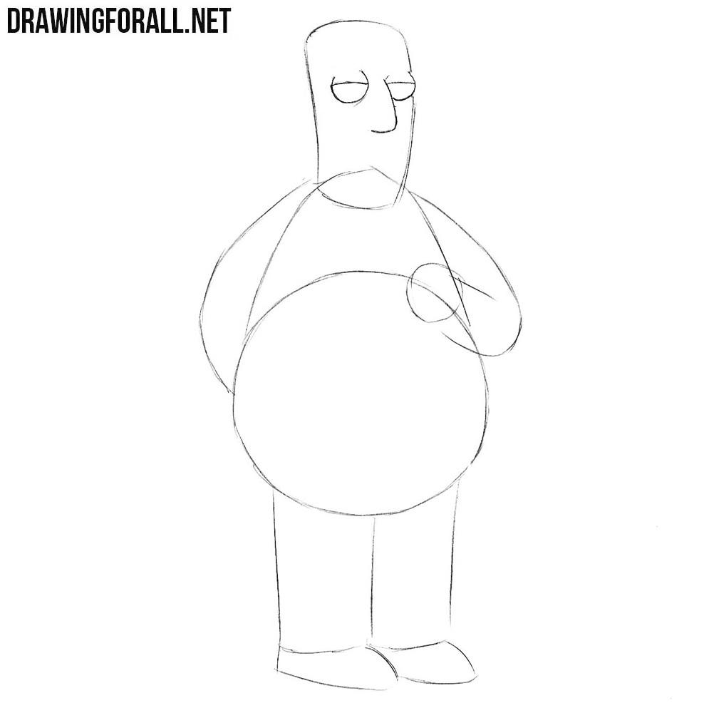 Kent Brockman drawing