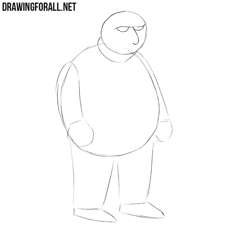 Learn how to draw Fat Tony step by step