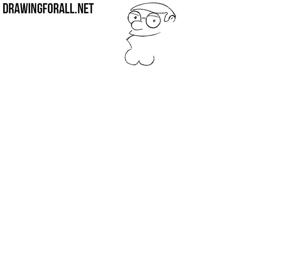 Learn how to draw Peter Griffin step by step