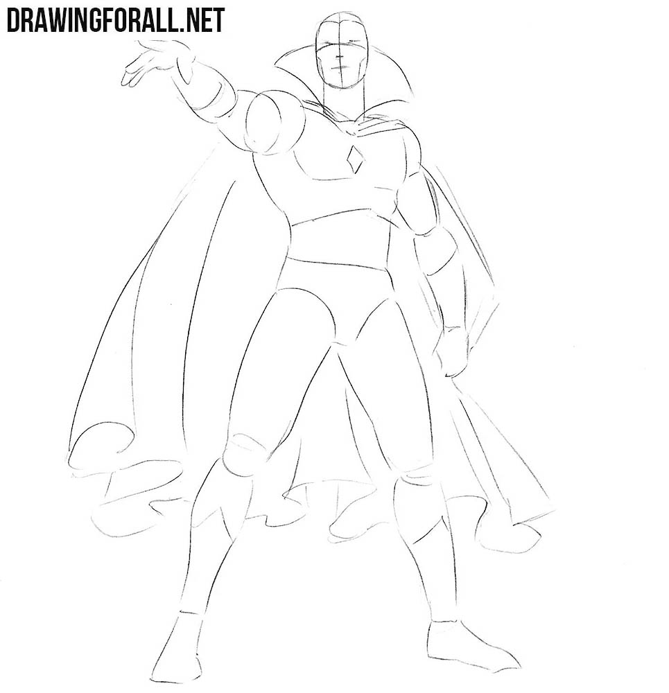 Learn how to draw Vision from marvel comics
