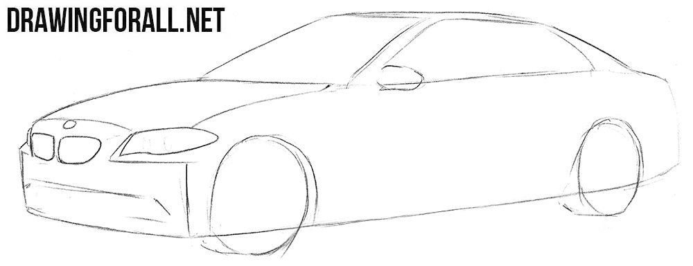 Learn how to draw a BMW M5