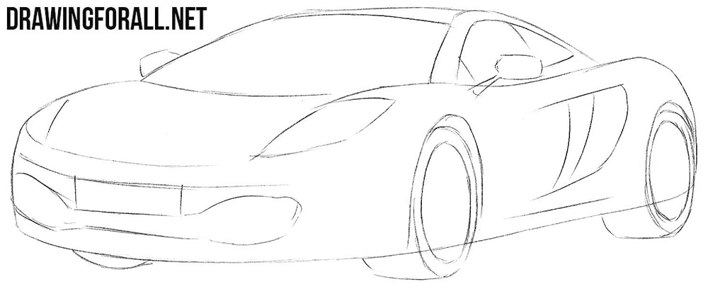Learn how to draw a McLaren mp4
