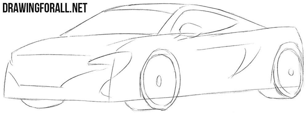 Learn how to draw a Mclaren 650s step by step