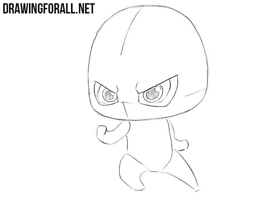 Learn how to draw chibi Flash step by step