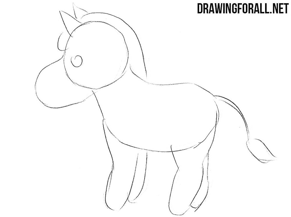 Learn to draw a chibi zebra