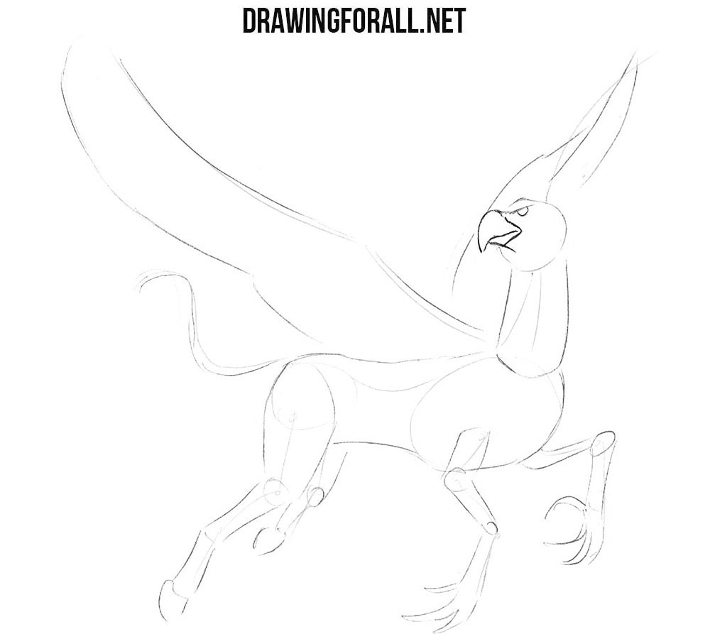 Learn to draw a hippogriff step by step